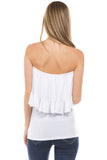 BEYONCE TUBE TOP (WHITE)- VT2408
