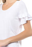 NEVE RUFFLE SLEEVE TOP (WHITE)- VT2424
