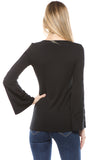 CALLIOPER LONG SLEEVE TOP (BLACK)-VT2432