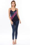 LINNETTE SEQUINS TOP (NAVY/FUSCHIA)-VT2455SP