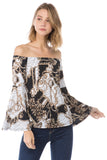 VERSAILLES OFF SHOULDER TOP (WHITE/BLACK)- VT2492