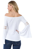 SOLID WENDY OFF SHOULDER TOP (WHITE)- VT2495S