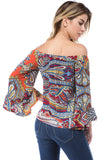RUBI OFF SHOULDER TOP (MULTI)- VT2509-RUBI