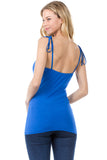 ELENA SHOULDER TIE CAMI (ROYAL BLUE)- VT2523