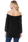 FAYE OFF SHOULDER TOP (BLACK)- VT2534