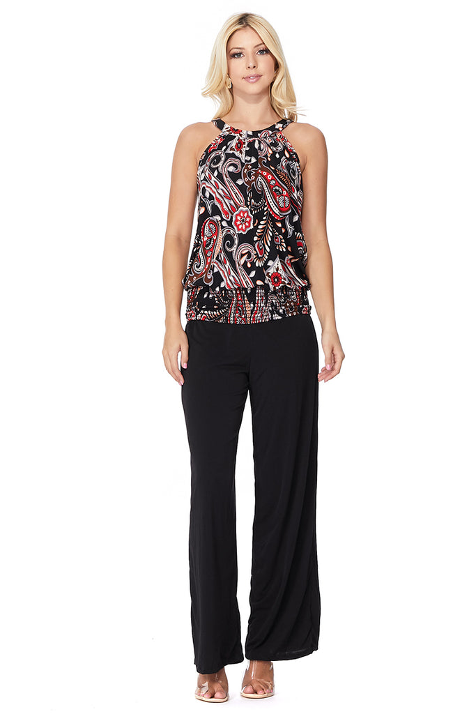 ROCCO BACK TIE TOP (BLACK MULTI)- VT2536P-ROCCO