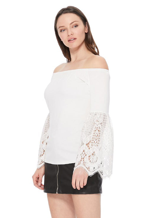 FAYA OFF SHOULDER TOP (IVORY)- VT2538