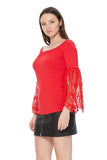 FAYA OFF SHOULDER TOP (RED)- VT2538