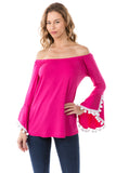 AGNES TOP (FUSCHIA)-VT2567