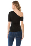 JULLIE BAND TOP (BLACK)- VT2575