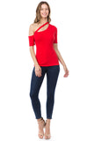 JULLIE BAND TOP (RED)- VT2575