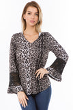 ELSIE HDDIE TOP (ANIMAL)-VT2631A
