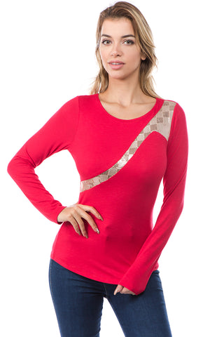 ARABELLA TOP (RED)-VT2638