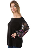 GINA OFF SHOULDER TOP (BLACK)- VT2646-PURPLE