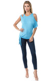 CALLA SIDE TIE TOP (SKY BLUE)- VT2671