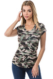 FIONA SHORT SLEEVE TOP (ARMY)- VT2680P