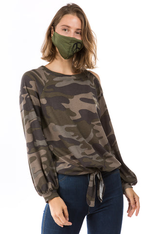 ALYSSA TOP (ARMY)-VT2748