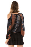 ALYSSA TOP (NEW BROWN TIE DYE)-VT2748