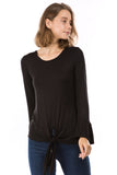 LUX RUFFLE SLEEVE TOP (BLACK)-VT2784