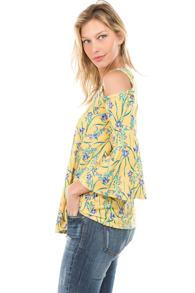 PRINTED BRENDA TOP (Yellow)- VT7365