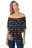 GINNI CONVERTIBLE TOP (BLACK MULTI)- VT7463P