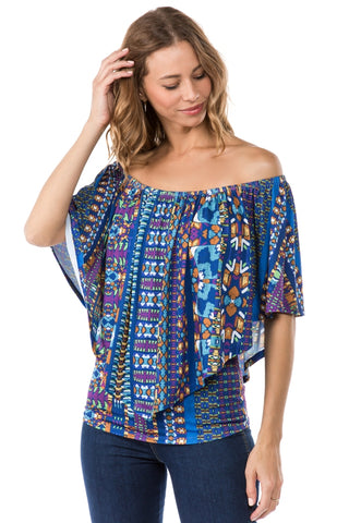 LUCCA CONVERTIBLE TOP (NAVY MULTI)- VT7463-LUCCA