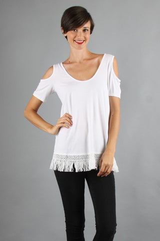 SOLID OPEN SHOULDER TOP-VT9157 S