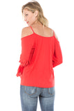 HALLE OPEN SHOULDER TOP (D. ORANGE)-VT9454
