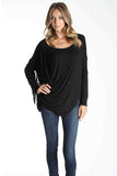 ABENA LONG SLEEVE TOP (BLACK)- VT9925