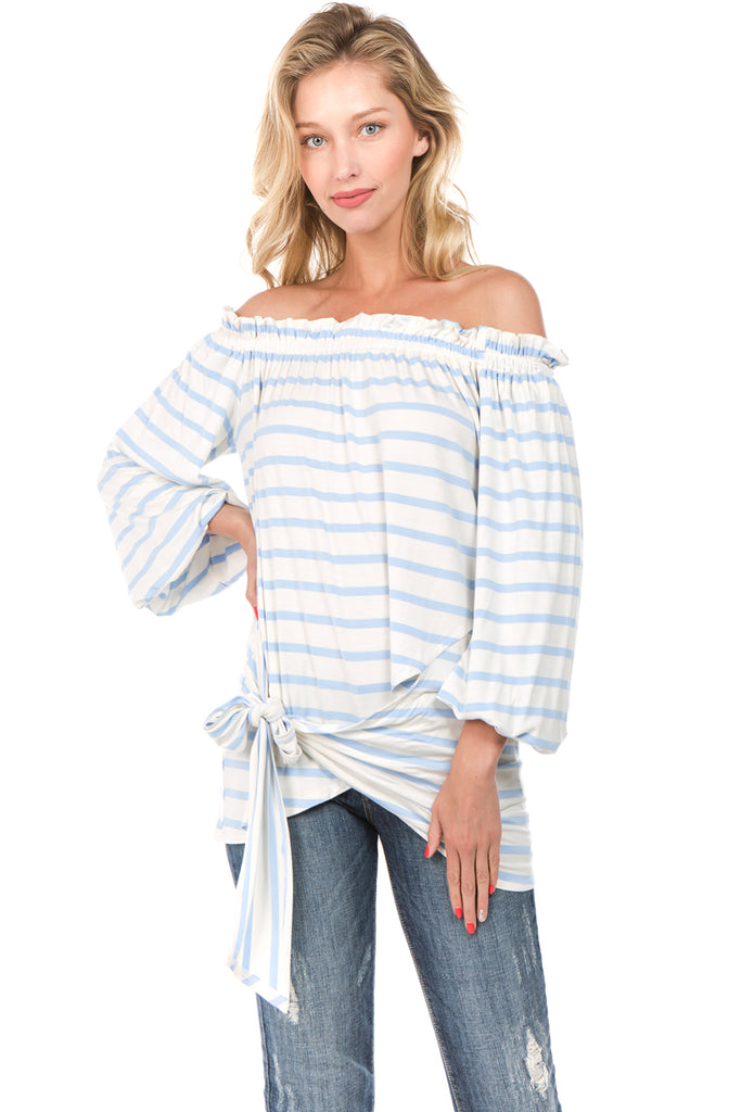 MARY OFF SH TOP (Blue)- VT2236