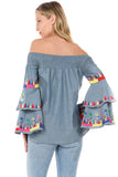 JOEY OFF SHOULDER TOP-CVD1835