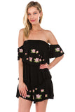 ROESIA OFF SHOULDER DRESS (Black)-CVD1689