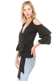 ISADORA WRAP TOP (Black)- VT2165