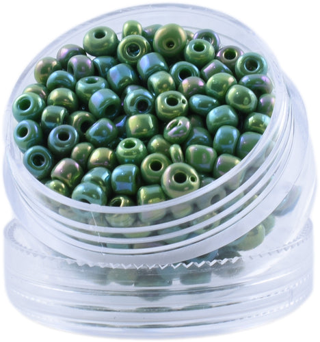Bead Round - Color: Rainbow Emerald