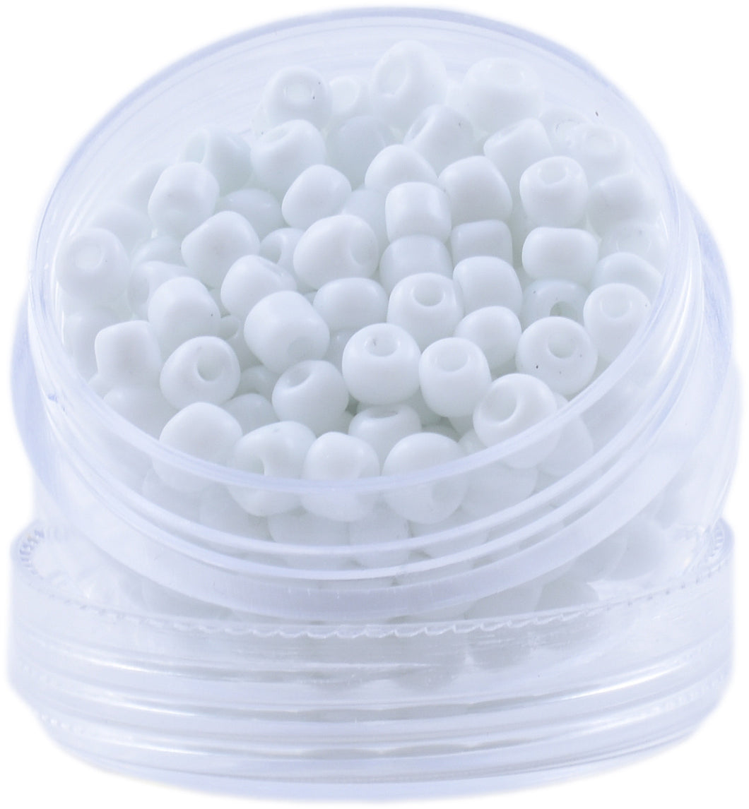 Bead Round - Color: Snow