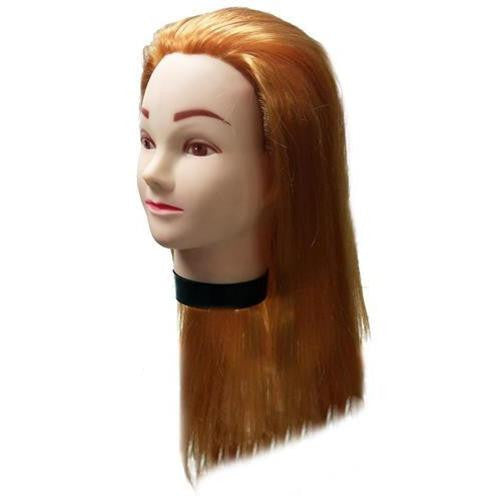 "Professional Styling Manikin Head 19"" Female Cosmetology Hair Cutting Mannequin Blonde With Clamp"