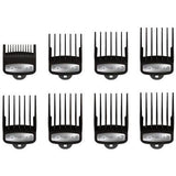 Wahl Professional 8 Pack Premium Hair Clipper Cutting Guide Combs With Caddy 3171-500