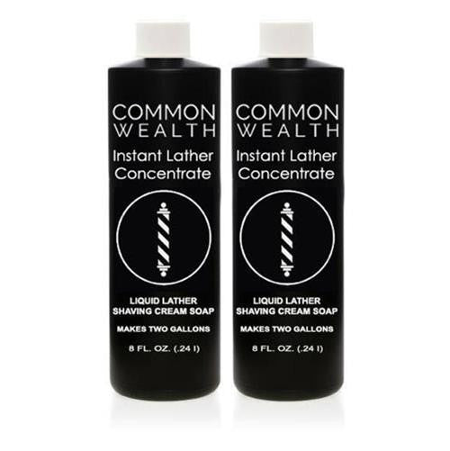 Common Wealth Instant Liquid Hot Lather Machine Concentrate Shaving Cream Soap 2 Pack