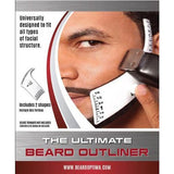 Beardoptima Beard Outliner Perfect Beard Shaper Facial Hair Tool Lineup Template