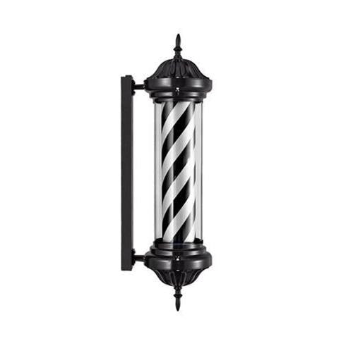 "Common Wealth 42"" Black & White Classic Barber Pole"
