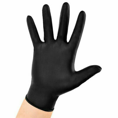 Life Guard Black Nitrile Powder-Free Medical Grade Examination Gloves 6340 Case