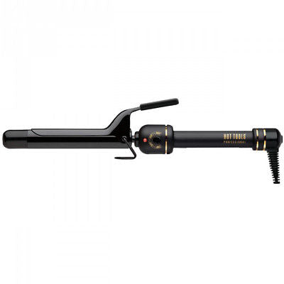 "Hot Tools Professional Black Gold 1"" Salon Curling Iron Hair Wand HT1181BG"