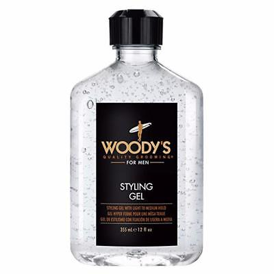 Woody's Hair Styling Gel for Men 12oz Light Medium Hold