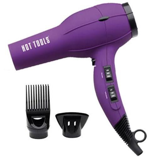 Hot Tools 1023PL Ionic Anti-Static Hair Dryer 1875 Watts Purple