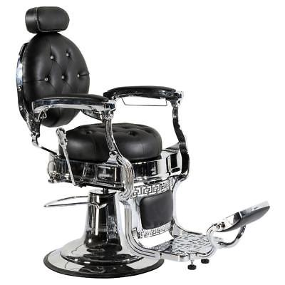Professional High Quality Hydraulic Reclining Barber Chair Classic Vintage Style Black CWTOP14B