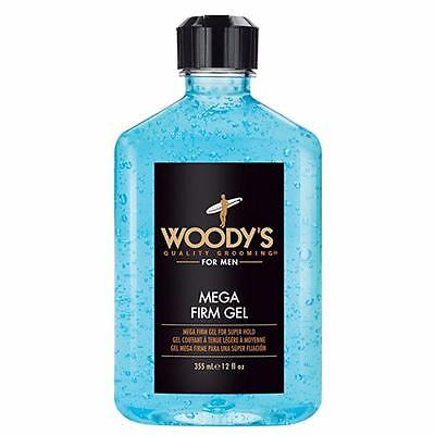 Woody's Mega Firm Hair Styling Gel for Men 12oz