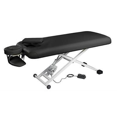 Professional Deluxe Stationary Electric Massage Table Bed Black