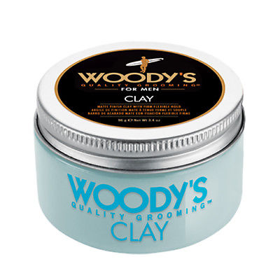 Woody's Hair Styling Clay for Men 3.4 oz Matte Finish Firm Flexible Hold