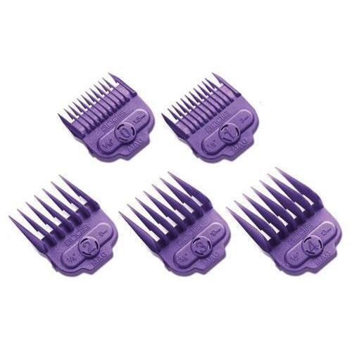 Andis 5 Piece Nano-Silver Magnetic Comb Set Hair Clipper Attachments 66345