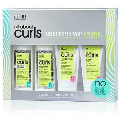 Zotos Professional All About Curls Starter Kit - Nourish Define Defrizz Curly Hair